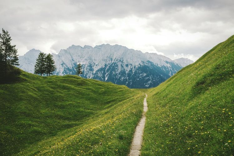 Wherever your feet lead to Edge Of The World Open Edit EyeEm Best Shots - Landscape EyeEm Nature Lover Mountains Green Hills The Alps On The Road Street Hiking