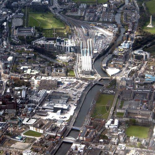 Heuston Liffey Aerial Dublin lovindublin