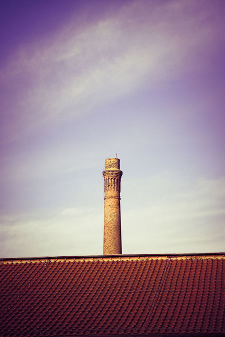 Smoke Stack Architecture Building Building Exterior Built Structure Chimney Cimney Cloud - Sky Day Factory High Section Industry Low Angle View Nature No People Old Buildings Outdoors Pollution Red Roof Roof Tile Sky Smoke Stack Tower