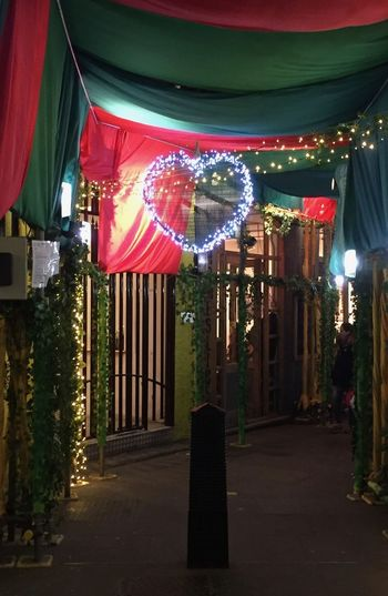 Lover's Lane London Neal's Yard Romance Architecture Building Exterior Built Structure Celebration Decoration Hanging Illuminated Lovers Lane Multi Colored Night No People Outdoors