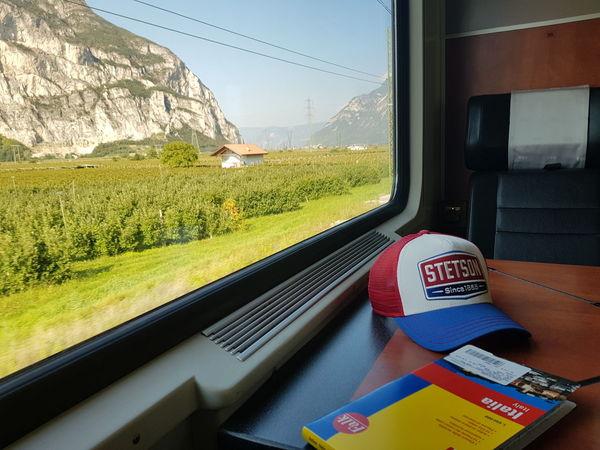 The Italy trip starts by train. Vacation Trip Südtirol Train Cap Map Landkarte Mountain View Picoftheday World Is Beautiful Italy Tadaa Community Alpen Alps Italy Europe City Window Side-view Mirror