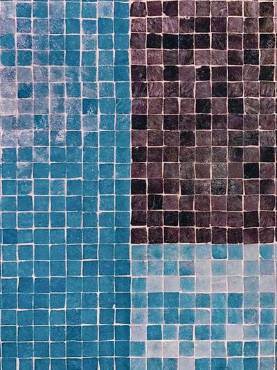 Exploring Style Pattern Tile Brick Wall Full Frame Architecture Backgrounds Textured  Outdoors Built Structure Mosaic Streetart Blue Black Close-up Macro No People Abstract