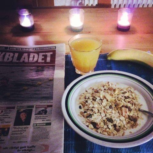 God morgon. Morning M åndag Nyvecka Folkbladet