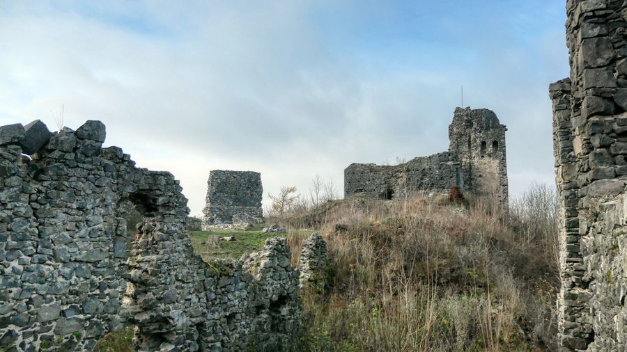 Old ruins of castle against sky