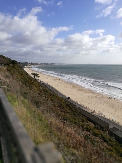 Bournemouth Sea Beach Horizon Over Water Sand Scenics Wave Coastline Water Nature Sky Cloud - Sky Day Beauty In Nature Outdoors Sand Dune No People