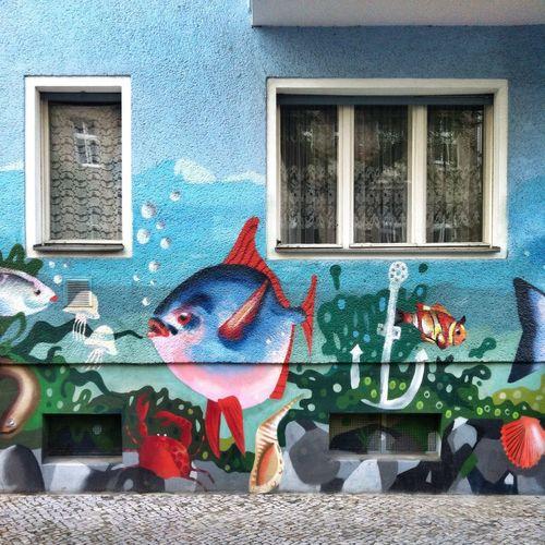 Graffiti Street Art Fishing For Compliments