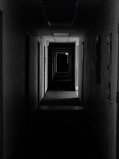 Dark corridors Exploring Light And Shadow Light And Shadow Taking Photos Blackandwhite