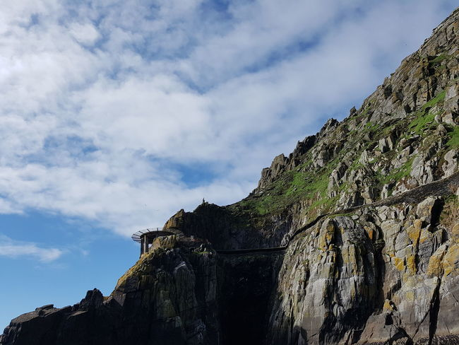 A part of Skellig Michael island view from boat. Travel Ireland Island Skelligmichael Mountain Climbing Rock - Object Sky Ancient Civilization Rock Face Cliff Geology
