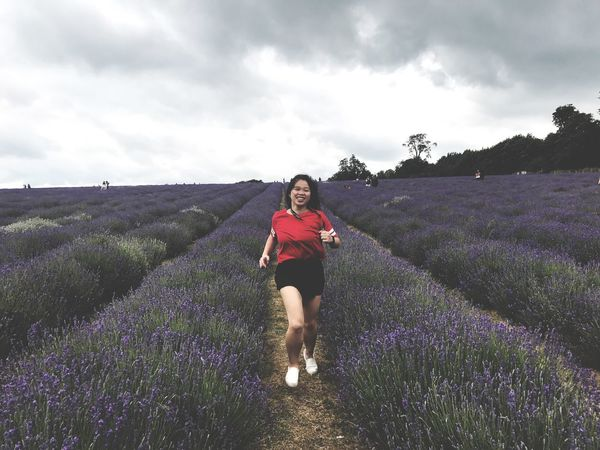 Champion Growth Field Lavender Flower Agriculture Lavender Colored Nature Plant One Person Purple Real People Sky Beauty In Nature Landscape Cloud - Sky Outdoors Lifestyles Young Women Day Young Adult EyeEm LOST IN London