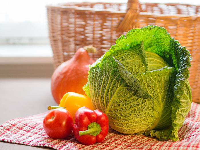 vegetables Wirsing Wirsingkohl Vegetables Different Vegetables On Table Savoy Cabbage Savoy Paprika Hokkaido Composition StillLifePhotography Eating Healthy Eating Healthy Lifestyle Basket In Backgroun Basket Food Food And Drink Freshness Fruit Wellbeing Vegetable Green Color Indoors  No People