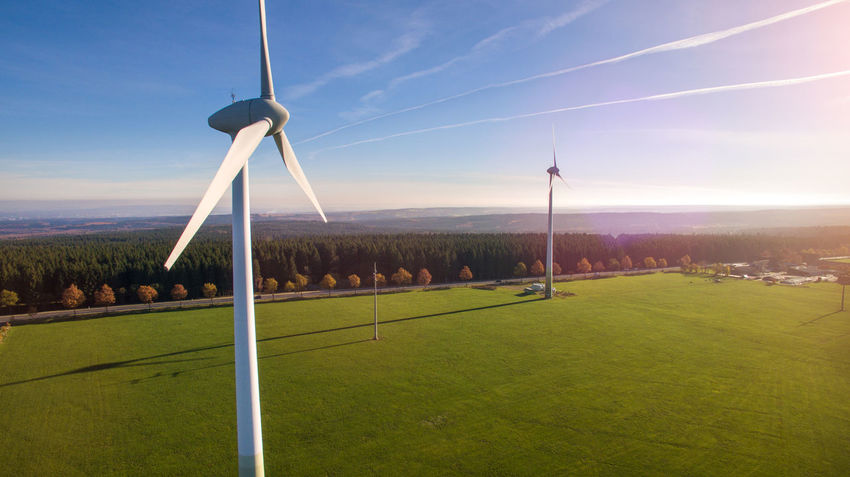 Alternative Energy Beauty In Nature Day Field Fuel And Power Generation Grass Green Color Growth Industrial Windmill Landscape Nature No People Outdoors Renewable Energy Scenics Sky Technology Tranquil Scene Tranquility Tree Wind Power Wind Turbine Windmill