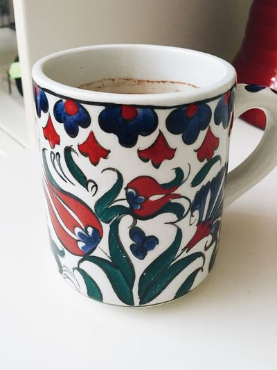 Coffee Coffee Time Close-up Coffee Break Coffee Cup Coffee Pause Cup Day Design Drink Food And Drink Freshness Indoors  Iznik Multi Colored No People Ornaments Table
