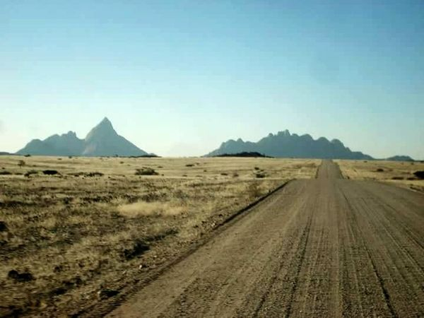 Landscape Desert Outdoors Adventure Clear Sky Rural Scene Mountain Road Beauty In Nature No People EyeEmNewHere Dusty Road Namibia