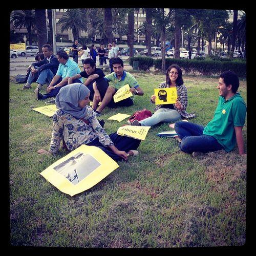 La jeunesse d'Amnesty au sitin FreeJabeur
