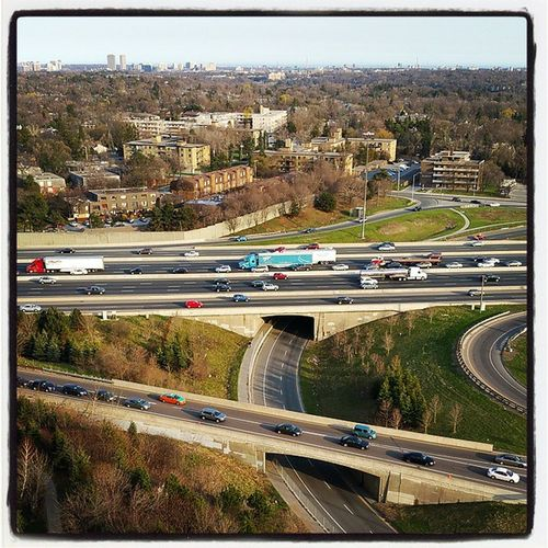Toronto NorthYork Yonge Hwy 401 Rushhour Traffic view from @poindxter Fj5photography Photooftheday