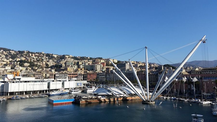 Ruota panoramica Genova Genova ♥ Noedit Nofilter Italy Italia IT Expo Porto Oldcity Panoramic Panoramic View Sky Blue Sky Blue Sea Sea And Sky Housing Settlement Calm TOWNSCAPE Rooftop Town Human Settlement Aerial View Old Town