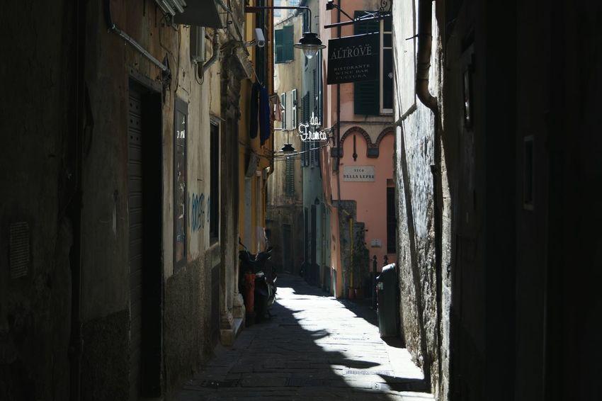 The Way Forward No People City Life Italy Travel Destinations Light And Shadow Sony SonyAlpha58 Genova, vicoli.