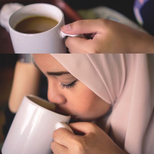Always Be Cozy Coffee Cup Real People Drink Beauty Close-up Cup Refreshment Women One Person Indoors  One Woman Only Adult Day People