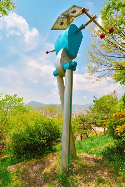 Naksan Park Robot Sculpture Seoul South Korea Naksan Park Art Sculpture Robot Travel Science Fiction Fantasy Park Naksan