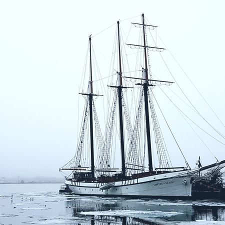 #LakeOntario #sailboat Nautical Vessel No People Tall Ship Sea