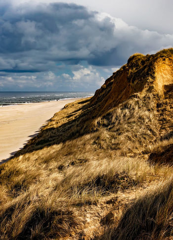 Rotes Kliff, Sylt Rotes Kliff, Sylt Strand Sylt, Germany Beach Cloud - Sky Coast Nature Nordseeküste Outdoors Rotes Kliff Scenics Sylt Tranquil Scene Tranquility