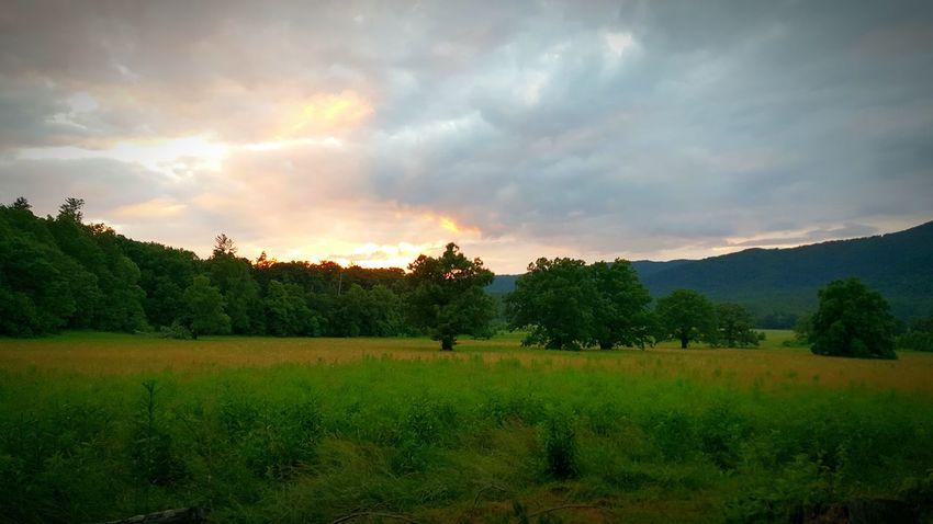 sunset of the smokys
