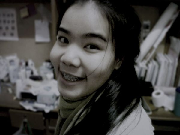 When she was student in girls dormitory at university. Iphonephotography Black & White Self Portrait Dark