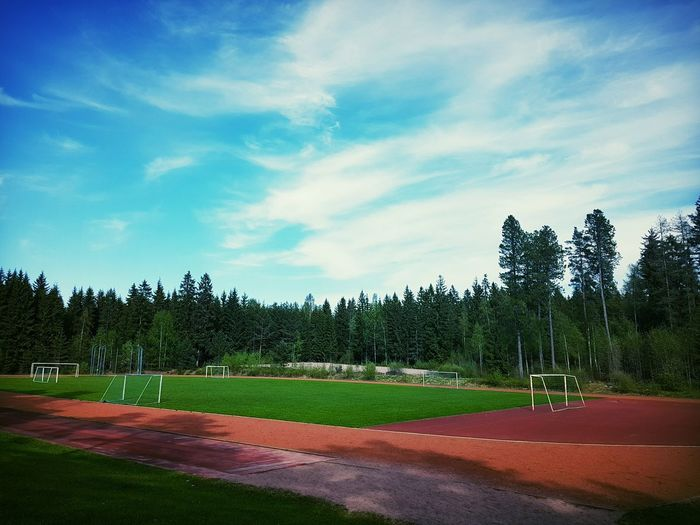 Sports field Trees Sportsfield Sportsground Sports Nopeople Finland Sport Sky Cloud - Sky