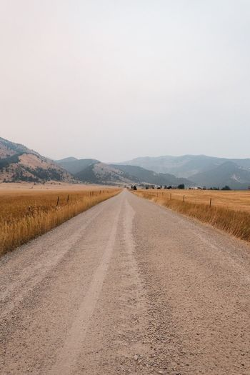 EyeEm Selects Landscape Road The Way Forward Scenics Mountain No People Nature Tranquility Outdoors Day Beauty In Nature Sky Montana Northwest MidWest