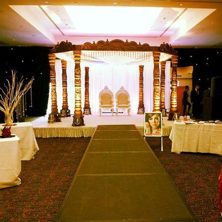 Marriott Mandap Runway Lights chairs Weddingshowcase