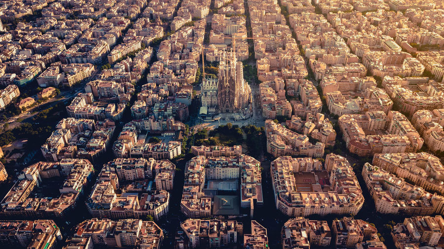Sunset above Barcelona Full Frame Architecture Backgrounds No People Built Structure High Angle View Day Building Exterior City Travel Travel Destinations Abundance Building Pattern Art And Craft Tourism Outdoors Belief Cityscape Human Representation Sagrada Familia Barcelona Barcelona, Spain Diagonal Symetry My Best Photo