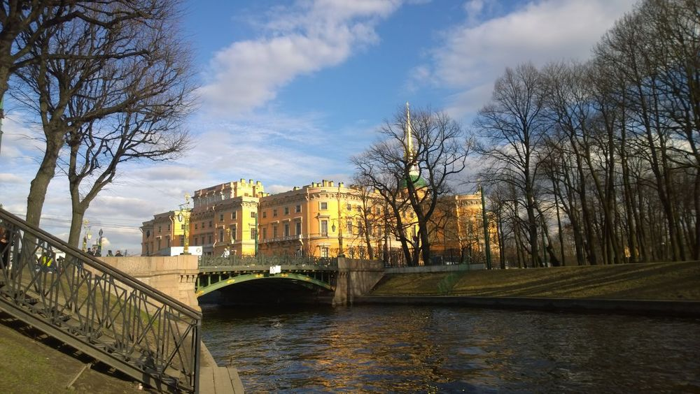 Architecture Bridge Built Structure City City Life Day River Sankt-Petersburg