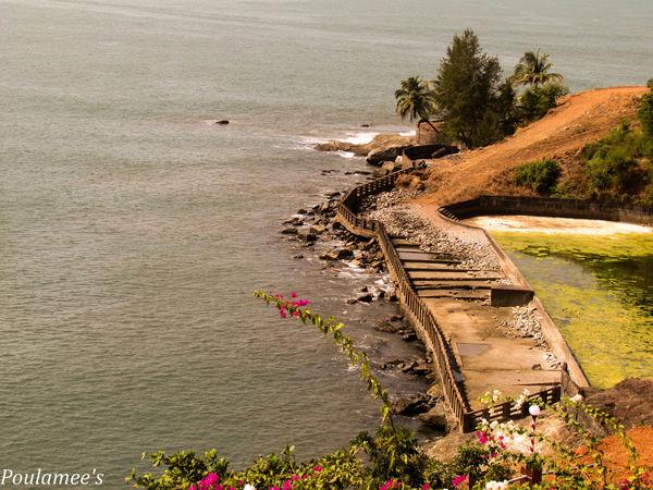 Coastline Rippled Sea Shore Traveling Vacation Water
