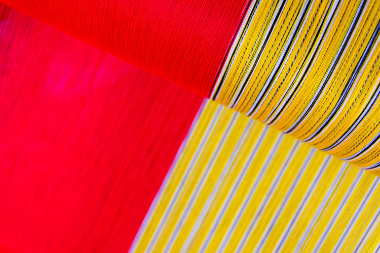 Traditional style handmade woven in Thailand Background Blue Chiang Mai | Thailand Close-up Culture Handmade Macro Multi Colored Pattern Red Striped Style Textile Textiles Thailand Tissue Traditional Vibrant Color Wallpaper White Woven Woven Pattern