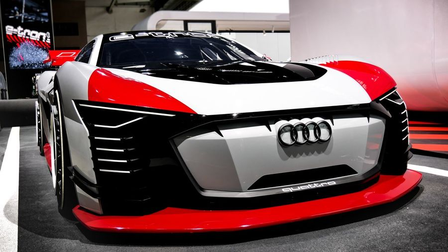 Vision GT Front Etron Audisport Audi Cars Quattro Vision GT Gran Turismo Sportcar Red Land Vehicle Transportation Mode Of Transportation Motor Vehicle Car No People