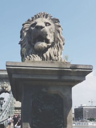 Statue Sculpture Travel Destinations Architecture Lion - Feline Outdoors Tourism Sky Built Structure Travel Day City Vacations Water Clear Sky Building Exterior Cityscape No People