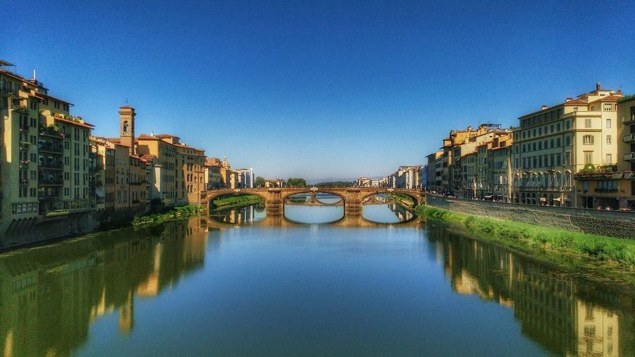 A Wonderful day in Florence Architecture Water City Bridge - Man Made Structure Clear Sky River Canal Reflection Blue City Life Outdoors