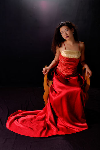 Asian Woman Black Background Fashion Red Dress Studio Taiwanese Woman Woman Beautiful Woman Chinese Woman Fashion Photography Formal Formal Gown, Toddler, Wedding, People, Red Carpet Indoors  One Person Real People Red Gown Woman Portrait Women Women Portraits Young Adult Young Women
