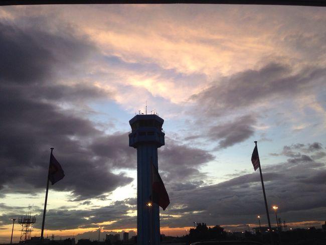 Sunset Cloud - Sky Flag Built Structure Patriotism