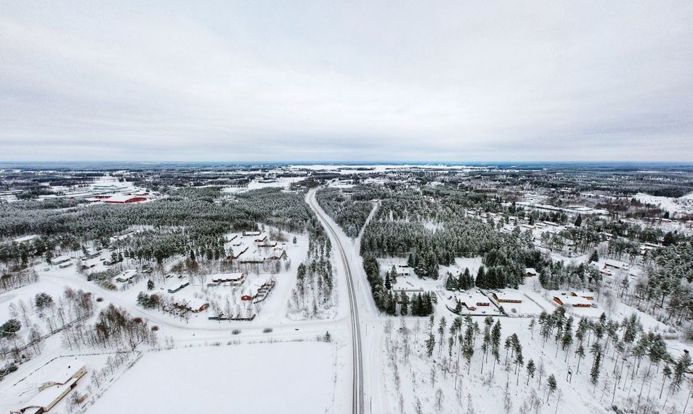Winter wonderland EyEmNewHere Spark Dji Spark Dji Winter Snow Cold Temperature Nature Weather Transportation Shades Of Winter Outdoors Landscape Beauty In Nature Sky No People An Eye For Travel