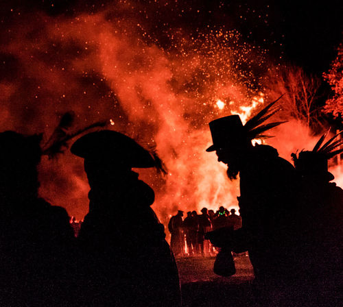 Bonfire Event People Watching Red United Kingdom Bonfire Night Burning Crowd Event Fire Flame Large Group Of People Leisure Activity Men Night Outdoors People People Photography Real People Silhouette Sky Togetherness