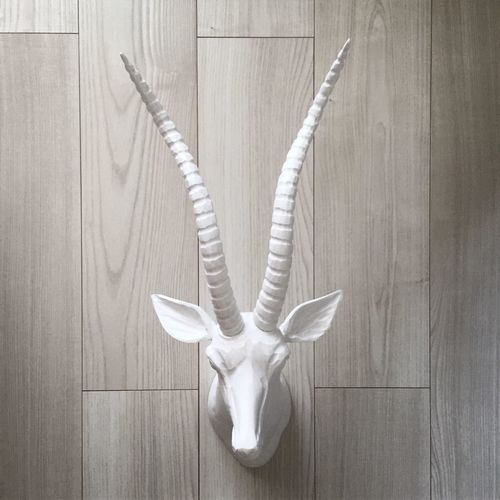 Interior Design Gazelle Wood Painted Wall Art