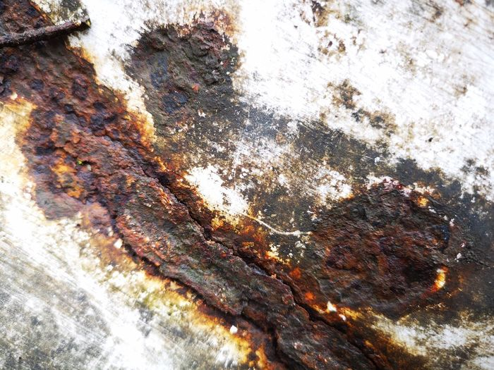 Rusty abstract EyeEm Abstractlovers Metal Surface Water Oil Spill Backgrounds Textured  Full Frame Close-up