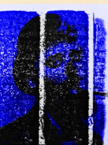 Photographic Approximation... Facial Experiments blue panels