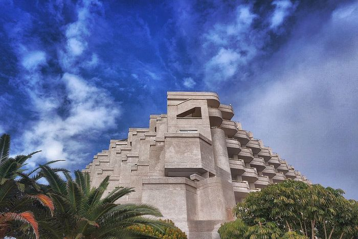 Tenerife Low Angle View Sky Cloud - Sky Building Exterior Architecture Built Structure No People Outdoors Tree Day