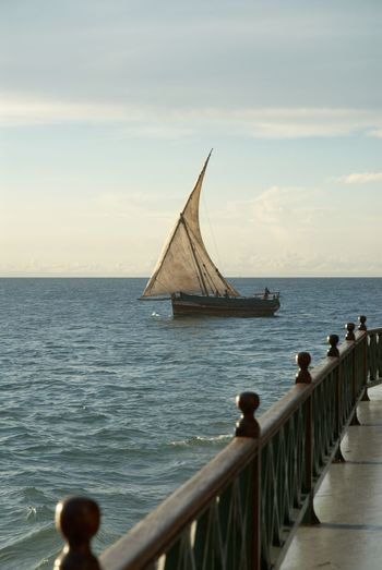 Sailing Dhow Dhow Boat Dhowcruise Traditional Boat Zanzibar Unguja East Africa Africa Tropical Holiday Travel Photography Backpacking Relaxing Sea