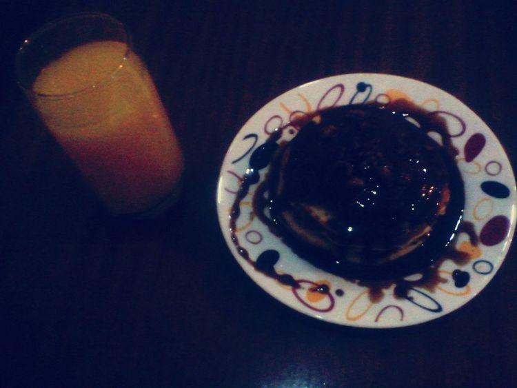Bonjour.♥ Breakfast Eating Pancakes