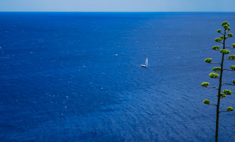 the big blue.. Beach Beauty In Nature Blue Clear Sky Day Greece High Angle View Horizon Over Water Nature Nautical Vessel No People Outdoor Outdoors Scenics Sea Sky Sounio Sounion Water Yachting