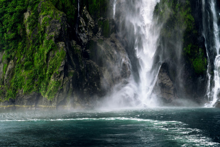 Adventure Blue EyeEm Nature Lover EyeEmNewHere Fiordland Green Milford Sound National Park Nature Water Waterfall