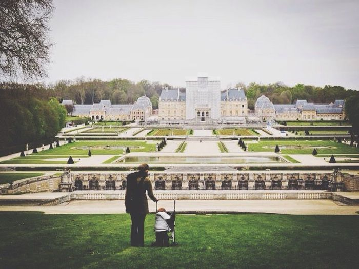 Two Is Better Than One Mother And Daughter First Steps French Castle Vaux Le Vicomte Gardens Fatherhood Moments